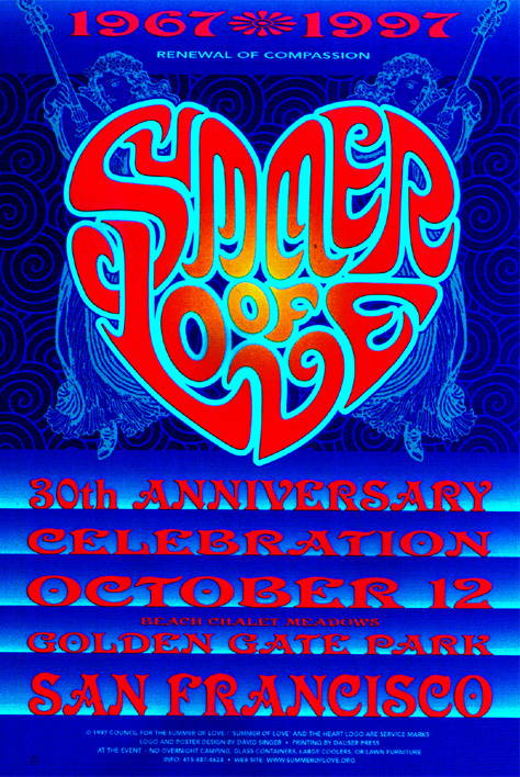 Summer of Love official Poster by David Singer